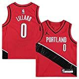 Damian Lillard Portland Trail Blazers NBA Jordan Brand Kids 4-7 Red Statement Edition Player Jersey (Kids 7)