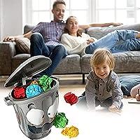 クレイジー投擲ゲーム電気ゴミ箱、モバイルゴミ箱ゲームゴミ箱、楽しくて取り外し可能な減圧ゴミ箱、家族の娯楽に適しています