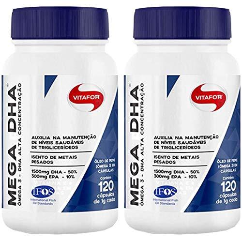 Mega DHA 1500mg Dha + 300mg Epa - 2 unidades de 120 cápsulas - Vitafor
