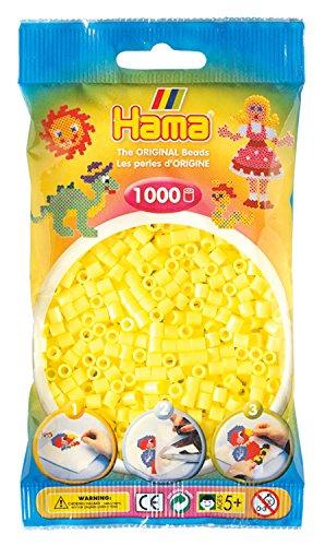 Hama 207-43 - Bügelperlen, 1000 Stück, pastell gelb