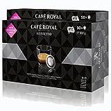 CAFÉ ROYAL Office Pads Ristretto Café, Café Tostado, Monodosis, Compatible con Sistema Nespresso Professional, 100Cápsulas