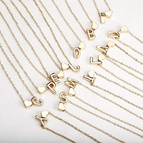 Necklace Tiny Dainty Heart Necklace Letter Pendants Necklaces Name Jewelry For Women Choker Accessories Girlfriend Gift G