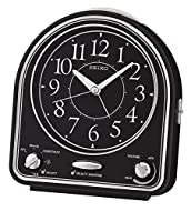 Seiko Alarm Clock, Black, 14.3 x 12.9 x 7 cm