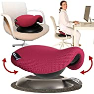 Portable Ergonomic Office Chair - Make Any Chair a Swinging Saddle Chair with Portable Saddle Stool - Makes A Great Gift for Coworkers, Yoga, Meditation and Friends - (Rose) by Humantool