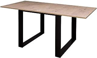 Itamoby, Table extensible Tecno Libre 120, panneaux de mélaminé, chêne naturel et anthracite, L 120 x H 80 x P 90 cm (ouve...
