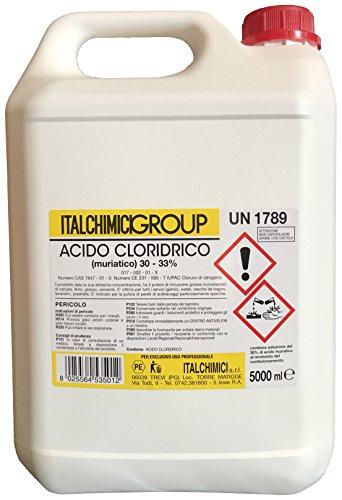 'Acido muriatico 'Puro Al 33% LT 5pz 4