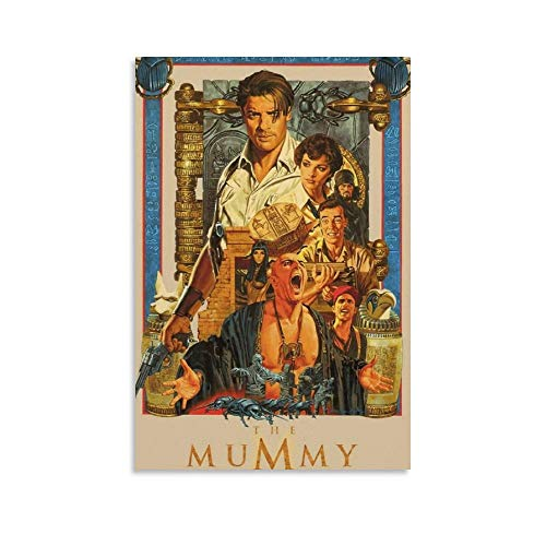 Hinxy Mummy Movie AU Poster Decorative Painting Canvas Wall Art Living Room Posters Bedroom Painting 24×36inch(60×90cm)