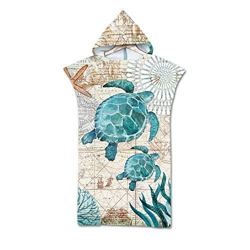 Odot Poncho Toalla con Capucha Adulto Natación Playa Surf Albornoz para Cambiarse de Ropa Toalla de Microfibra Albornoces Nadar Playa Baño Verano