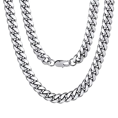 Boy Stainless Steel Neck Chains 24 inch 10MM Punk Rock Jewelry Christmas Gifts for Dad