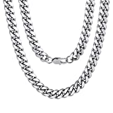 Hip Hop Men Necklace Curb Cuban Chains 20inch 10MM Neck Chain Christmas Gifts for Boys