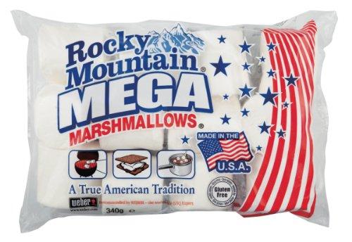 Rocky Mountain Marshmallows MEGA 340g, dulces tradicionales americanos para asar en la hoguera, a la parrilla o al horno, 340g