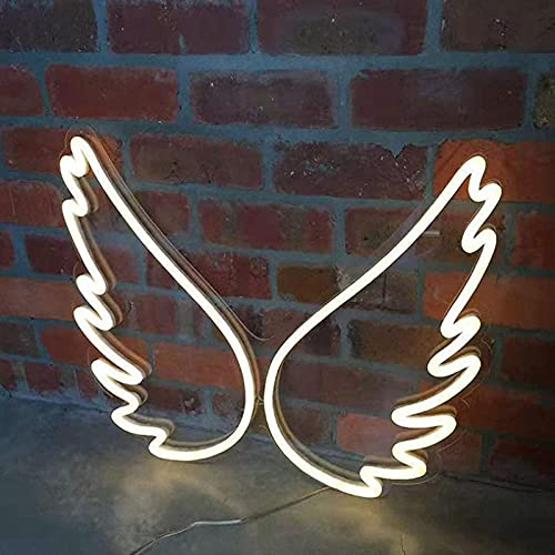 WINBST Wings Neon Light Sign LED Night Lights USB Powered Decorative Marquee Sign Bar Pub Store Club Garage Home Party Decor
