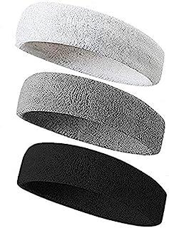comprar comparacion YUANQIAN - 3 bandas elásticas deportivas para el sudor, absorbentes, para yoga, correr, al aire libre, fitness, diademas p...