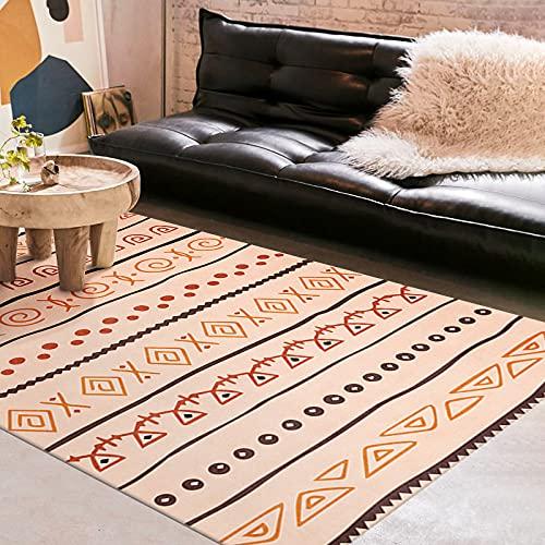 ZAZN Fresh Striped Carpet, Living Room Coffee Table Floor Mats, Modern Bedroom Office Floor Mats, Non-Slip And Wear-Resistant
