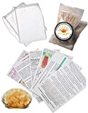 1/4 Cup Original Water Kefir Grains Exclusively from Florida Sun Kefir with 2 Brewing Bags