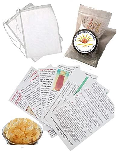 2 Brewing Bags PLUS 1/4 Cup of Florida Sun Kefir Live, Water Kefir Grains