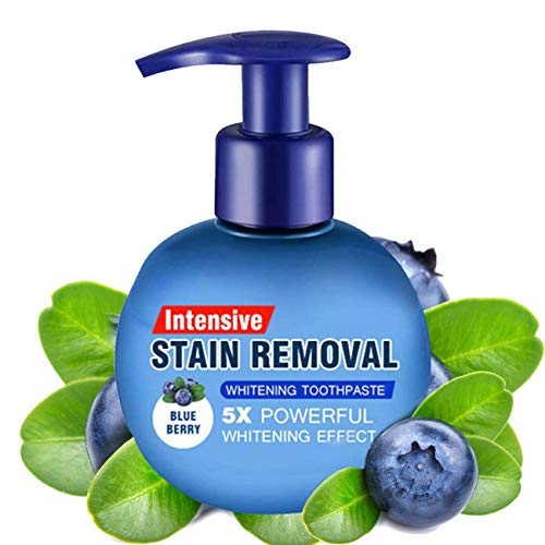 Baking Soda Whitening Toothpaste,Intensive Stain Remover Whitening Toothpaste Strengthening Stain Removal Gel Toothpaste Stain Removal Strengthening Stain Removal Gel Press Toothpaste (Blueberry)