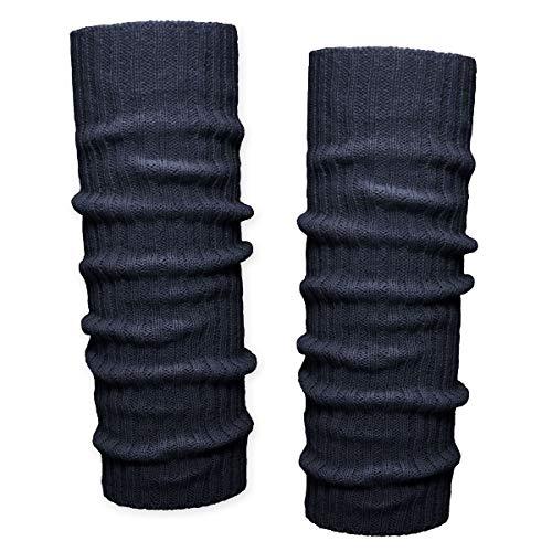 SoulCats® 1 Paar Grobstrick Bein Stulpen unifarben in 9 verschiedenen Farben (marine)