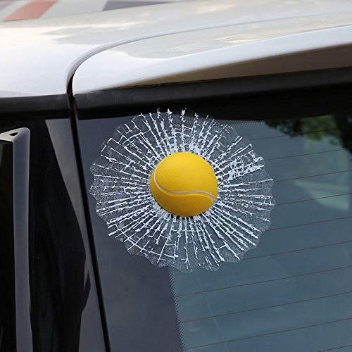 RENCALO Kreative wasserdicht PVC-3D-Auto-Fenster-Aufkleber Tennisball-Hits Car Body Aufkleber-Basketball