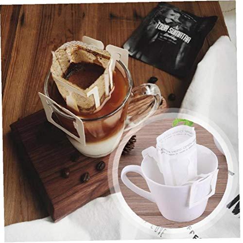 Hotaden 50pcs / Pack Bewegliche Innenministerium Reise DIY Drip Kaffeefiltertüte Hanging Ohr Stil Kaffeefilter Papier Brew Kaffee