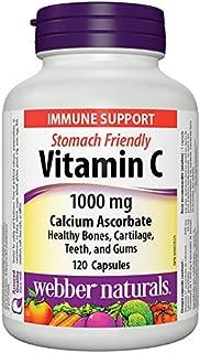 Webber Naturals Vitamin C Calcium Ascorbate 1000 mg · Stomach Friendly, 120 Capsules
