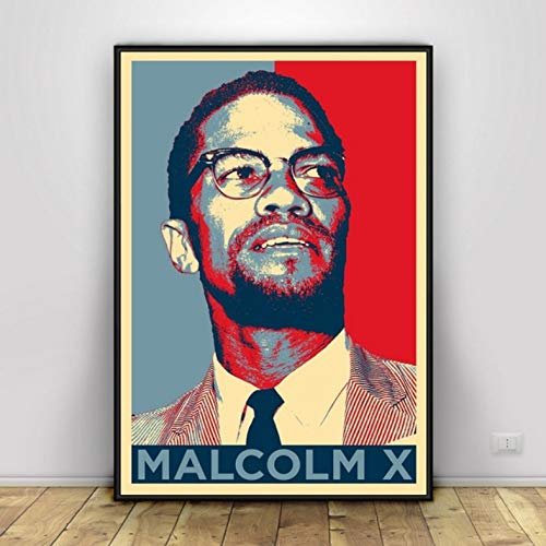 Malcolm X with Gun Movie Actor Star Poster Wall Art Painting Picture Prints Canvas Living Home Room Decor Pintura Sin Marco A18 50X60Cm