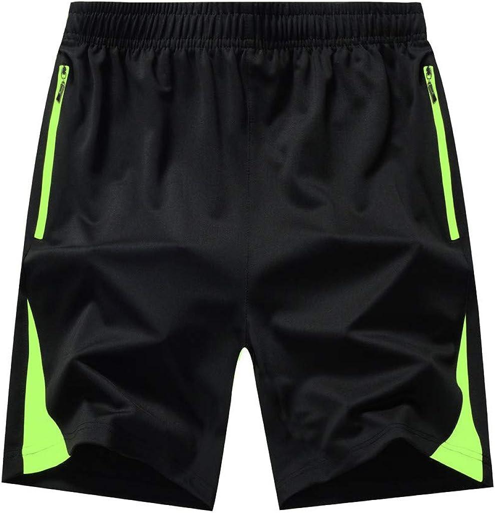 DIOMOR Mens M-8XL Classic Black Zipper Pockets Swim Trunks Plus Size Beach Shorts Quick Dry Bathing Suit Board Shorts