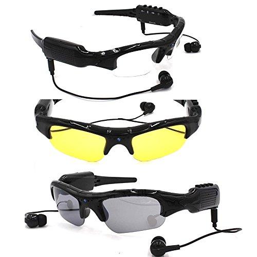 Gafas De Vídeo Bluetooth 1080P HD 32 GB Tarjeta SD Grabadora De Cámara Espía Y Gafas De Sol De La Cámara Gafas Polarizadas Caza De Pesca Al Aire Libre Deportes