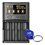 Nitecore SC4 Superb Charger Speedy Charger for 18650 17650 17670 RCR123A 16340 14500 Batteries w/LumenTac Keychain Light