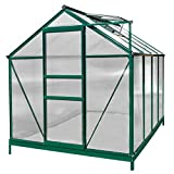 Sundale Outdoor Walk-in Greenhouse Gardening Large Hot Green House with Adjustable Roof Vent and...