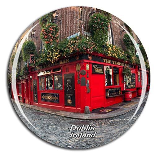 Weekino Irlanda Temple Bar Dublino Calamità da frigo 3D Cristallo Bicchiere Tourist City Viaggio Souvenir Collezione Regalo Forte Frigorifero Sticker