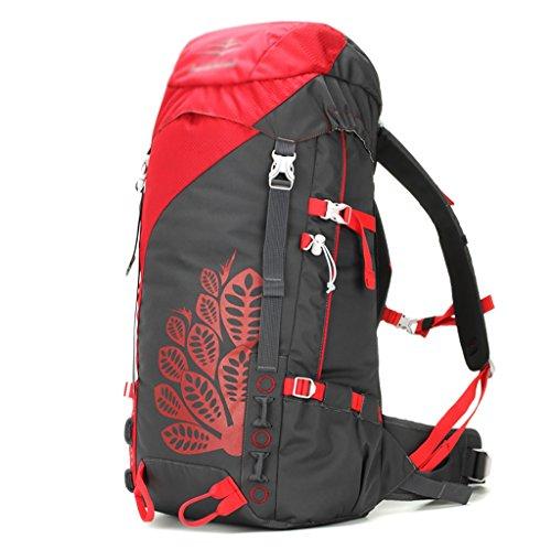 sac à dos randonnée sacs alpinisme sac à dos Voyage en plein air sac à bandoulière femme homme Sacs à dos de randonnée ( Couleur : Rouge , taille : 45L )