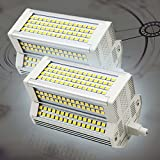 2-Pack 50W R7S 118mm Bombilla LED Blanco frío 6000K R7S J118Equivalente 450-500W R7S Bombilla LED halógena Bombillas de Foco LED Delgadas para lámpara de Techo (Regulable)