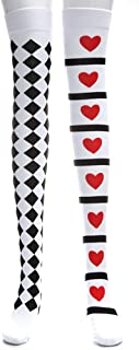 R STAR Stockings Costumes Women's Cosplay Dance Party Tights Stockings(Red Heart)
