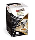 Caffè Molinari '100 % Arabica', 18 ESE Pads / Espresso Pods / Cialde, 125 g