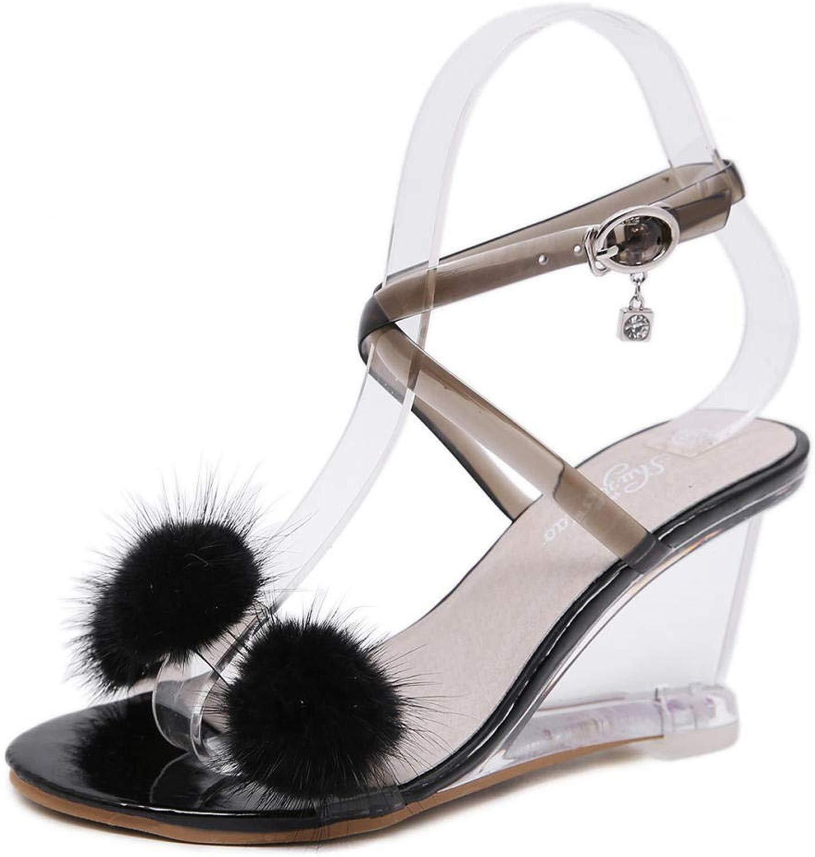 Damen High Heels Sandalen Sommer Neu Sommer einfach und transparent transparent  hoher Rabatt