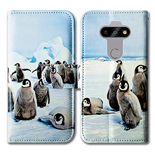 LG Aristo 5 Case,LG K31 Phone Case,Bcov Cute Playing Penguin Leather Flip Wallet Case Cover with Card Slot Holder Kickstand for LG Aristo 5+/LG Fortune 3/LG Risio 4/Phoenix 5/ LG K8X/Tribute Monarch
