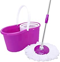Mop Rotating Mop and Bucket Easy to Wring Out Microfiber Cleaning System 360 Rotating Rotating Dry Mop with Bucket Washabl...