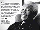 Wee Blue Coo I Learned That Courage Nelson Mandela BW