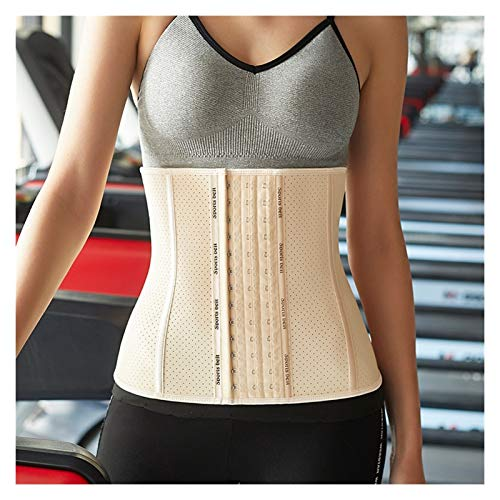 enioysun Corsés Cintura para Mujer Entrenador Corsé Abdomen Slim Cinturón Shapewear Steel Bone Adelgazante Chaleco Corsé (Color : Beige, Size : 3X-Large)