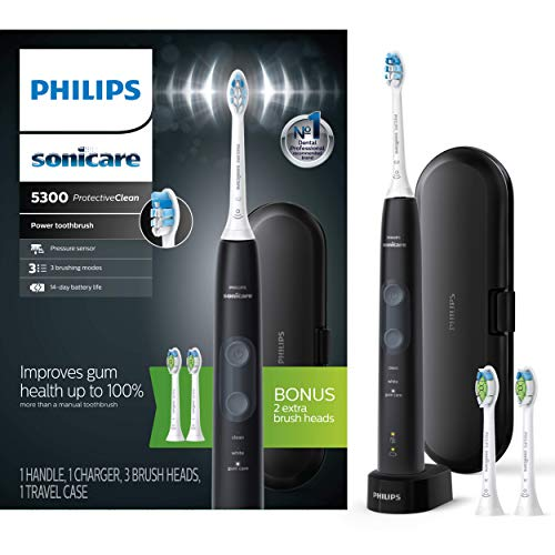 Philips Sonicare ProtectiveClean 5300 Rechargeable Electric Toothbrush,...