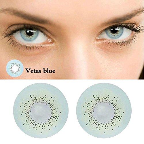 2PCS Farbige Kontaktlinsen UV Schützende Kontaktlinsen Großes Auge Bestes Geschenk