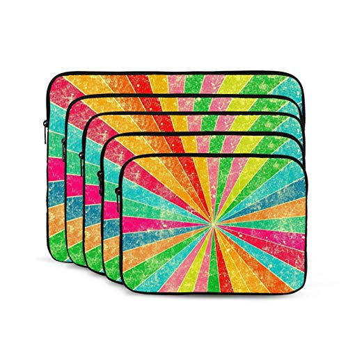 Rainbow Laptop Sleeve 12 inch, Shock Resistant Notebook Briefcase, Computer Protective Bag, Tablet Carrying Case for MacBook Pro/MacBook Air/Asus/Dell/Lenovo/Hp/Samsung/Sony