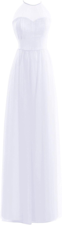 Bess Bridal Women's Formal Halter Tulle Floor Length Prom Dresses