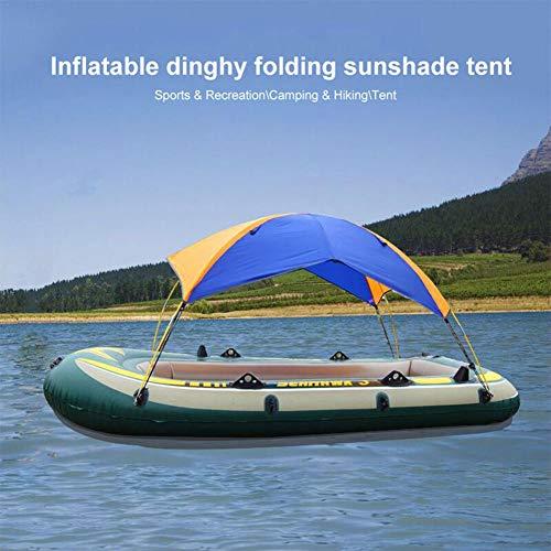 Ganmaov Sonnenschutz Shelter Kit Schlauchboot Zelt Wasserdicht Tragbare Bootsabdeckung Kajak Camping Sonnensegel Baldachin Geeignet Für 2-4 Personen Boot 297 127 48 cm rational
