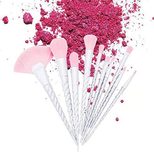 Non toxique durable réutilisable cheveux doux Facile à utiliser Rose Pinceaux De Maquillage Professionnel 10 Pièces Pinceaux De Maquillage Ensemble Foundation Blush Poudre Fard À Paupières Poudre Méla