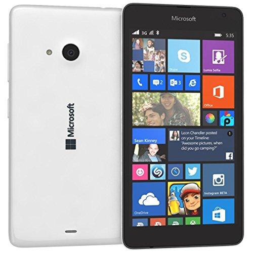 Microsoft Lumia 535 Dual SIM Unlocked GSM Cell Phone Network GSM 850 / 900 / 1800 / 1900 3g Network Hsdpa 900 / 2100 (White)