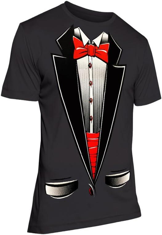 Fresh Tees - Camiseta, diseño de esmoquin con pajarita