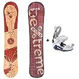 Bextreme Tabla Snowboard Flames 2020 All Mountain con Fijaciones SP Private. Freestyle y Freeride polivalente. Snow Wide de Bambu, Arce y Haya para Hombre y Mujer. (Fijaciones SP 42,5-44,5 EU, 152cm)