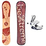 Bextreme Tabla Snowboard Flames 2020 All Mountain con...